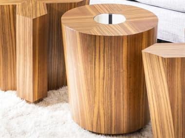 JKM Home Oscar 18'' Wide Round Drum Table JKMNN0063F