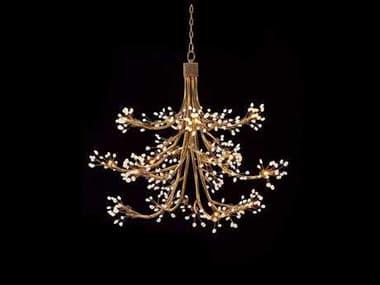 John Richard Halogen Antique Gold 14-Light 50'' Wide Chandelier JRAJC8772