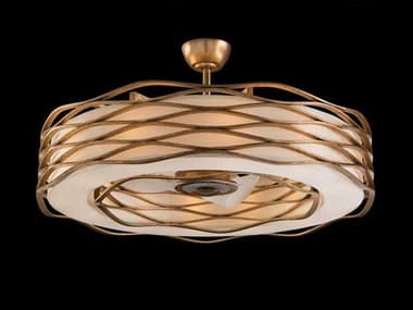 John Richard Mark McDowell Off White With Gold Encircle 12-Light 42.5'' Wide Indoor Ceiling Fan JRAJC9021