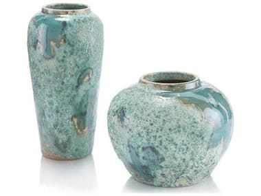 John Richard Set Of Two Sea Foam Vases JRJRA10838S2