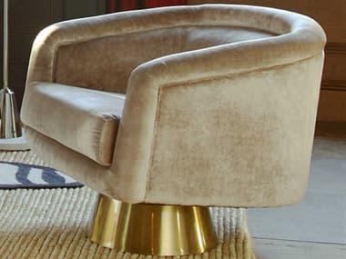 Jonathan Adler Bacharach Como Champagne Swivel Accent Chair JON18799