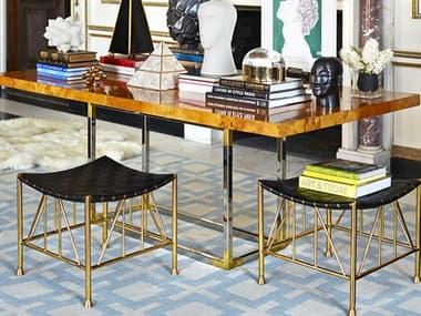 Jonathan Adler Bond Burled Mappa 80-100'' Wide Rectangular Dining Table JON26704