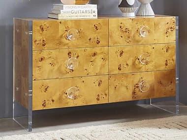 Jonathan Adler Bond Burled Mappa Six-Drawer Double Dresser JON27684