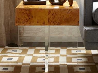 Jonathan Adler Bond Burled Mappa 20'' Wide Square End Table JON26701