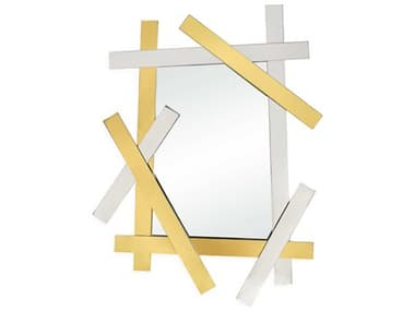 Jonathan Adler Electrum Brass / Nickel Wall Mirror JON21908