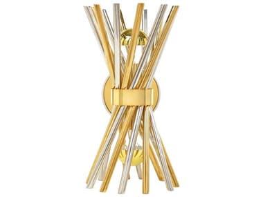 Jonathan Adler Electrum Brass / Nickel 2-light Wall Sconce JON21937