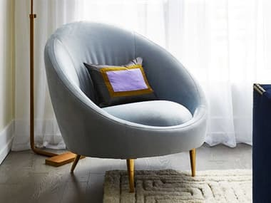 Jonathan Adler Ether Bergamo Ice Accent Chair JON24242