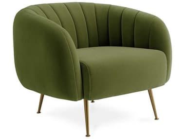 Jonathan Adler Pompidou Lido Chartreuse / Brass Accent Chair JON28568