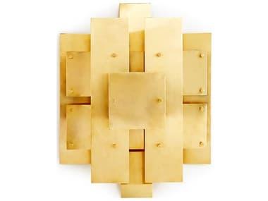 Jonathan Adler Puzzle Antiqued Brass Wall Sconce JON18955