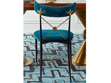 Jonathan Adler Rider Rialto Peacock Side Dining Chair JON22971