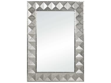 Jonathan Adler Talitha Nickel 35''W x 50''H Rectangular Wall Mirror JON22339