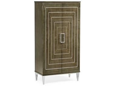 Jonathan Charles Gatsby Dark Grey Walnut / Stainless Steel Bar Cabinet JC500274WGESTS