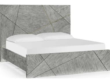 Jonathan Charles Geometric Dark French Oak King Panel Bed JC500277USKDFO