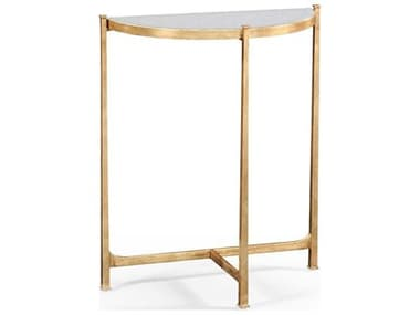 Jonathan Charles Luxe Gilded Antique Silver-Leaf 28 x 13 Rectangular Console Table JC494180G