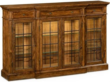 Jonathan Charles JC Edited - Casually Country Walnut Country Farmhouse China Cabinet JC491027CFW