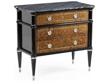 Jonathan Charles Madison Piano Black Three-Drawer Nightstand JC496019PBL