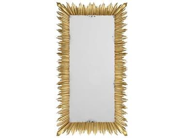 Jonathan Charles Versailles 48 x 91 Light Antique Gold-Leaf With Carved Floral Detail Floor Mirror JC495004GIL