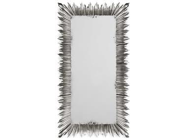 Jonathan Charles Versailles 48 x 91 Light Antique Silver-Leaf Floor Mirror JC495004SIL