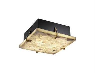 Justice Design Group Alabaster Rocks Clips Square Resin Two-Light ADA Wall Sconce - Flush Mount Light JDALR5555