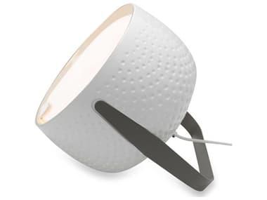Karman Bag Glossy White / Charcoal-Grey 1-light LED Table Lamp KAMHP154BBV11