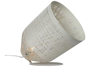 Karman Black Out Matt White 1-light LED Buffet Lamp with White Shade KAMHP1013BV11