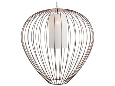 Karman Cell Lacquered Glossy Bronze 1-light LED Outdoor Hanging Light KAMSE612AMV1E