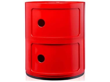Kartell Componibili Red Two-Door File Cabinet KAR496610