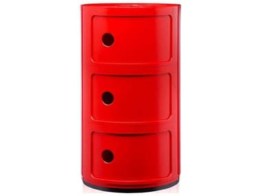 Kartell Componibili Red Three-Door File Cabinet KAR496710