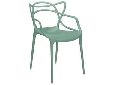 Kartell Masters Sage Green Dining Arm Chair KAR586514