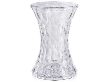 Kartell Stone Transparent Crystal Accent Stool KAR8800B4