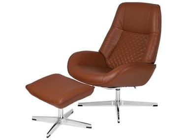 Kebe Bordeaux Balder Cognac Leather Recliner Chair with Footrest KEBKBBOB02