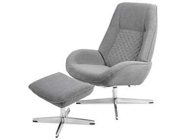 Kebe Bordeaux Yeti Light Gray Fabric Recliner Chair with Footrest KEBKBBOY72