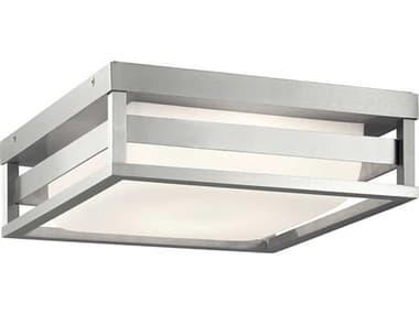 Kichler Lighting Ryler Brushed Aluminum 1-light Glass LED Outdoor Ceiling Light KIC59037BALED