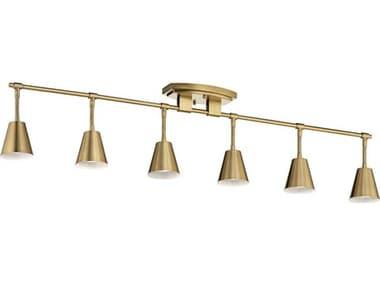 Kichler Lighting Sylvia Brushed Natural Brass 6-light 45'' Wide Track & Rail Light KIC52130BNB