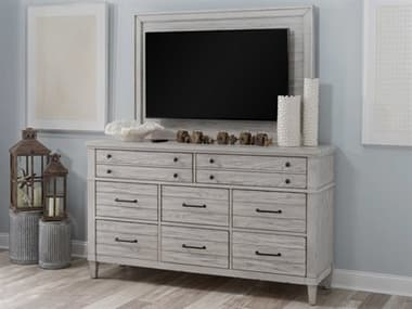 Legacy Classic Furniture Belhaven Eight-Drawer Triple Dresser with TV Frame Set LC93601200SET2