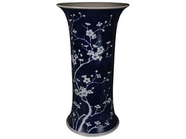 Legend of Asia Blue & White Plum Blossom Umbrella Stand Vase LOA1406