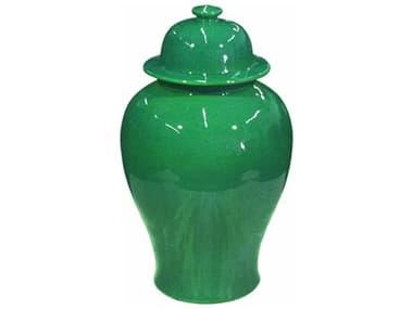 Legend of Asia Emerald Green Temple Jar LOA1801EG