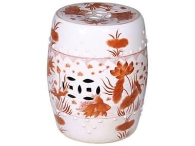 Legend of Asia Red Goldfish Porcelain Garden Stool LOA1664