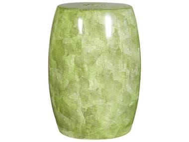 Legend of Asia Mustard Green Barrel Porcelain Garden Stool LOA2025MG