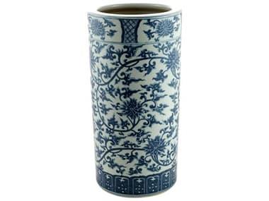 Legend of Asia Blue & White Twisted Lotus Porcelain Vase Umbrella Stand LOA1407