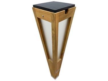 Les Jardins Lanai Teak 10-light 24'' High LED Outdoor Floor Light LJTECKA67500