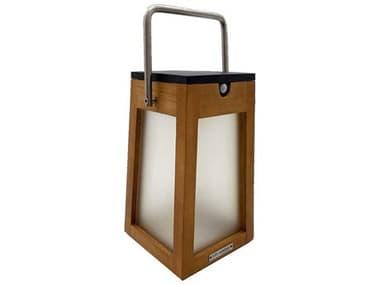 Les Jardins Tecka Teak / Frosted Glass / Stainless Steel Handle 5-light LED Outdoor Floor Light LJTECK140300