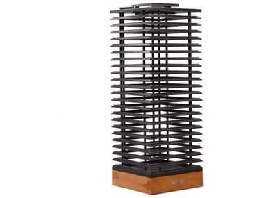 Les Jardins Tekura Teak / Slate Grey 10-light 32'' High LED Outdoor Floor Light LJTECK412300