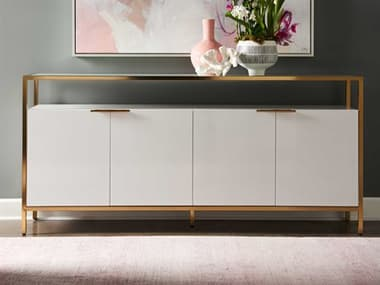 Lillian August Modern Living White Lacquer / Clear Brass Buffet lnaLW12022