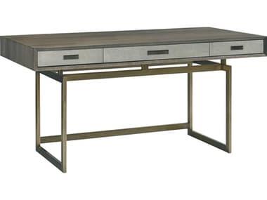 Lillian August Modern Living Grey / Light Shagreen Brushed Brass Secretary Desk LNALW10355