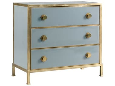 Lillian August Casegoods Aged Brass Three-Drawers Single Dresser LNALA1736201
