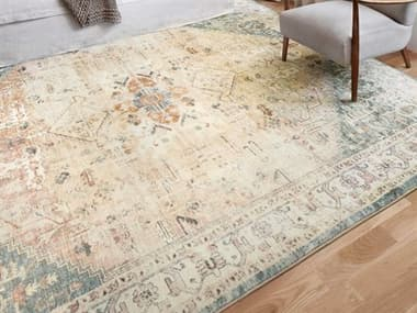 Loloi II Rugs Rosette Clay / Ivory Area Rug LLLROSTROS06CGIV