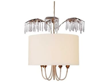 Lucas McKearn Antoinette Cream / Distressed Gold And Silver 5-light 22'' Wide Crystal Glass Mini Chandelier LCKPD1181