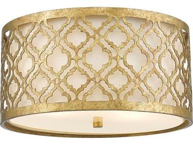 Lucas McKearn Arabella Distressed Gold 16'' Wide Flush Mount Ceiling Light LCKGNARABELLAF