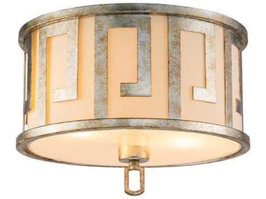 Lucas McKearn Lemuria Antique Silver 2-light 15'' Wide Flush Mount Light LCKGNLEMURIAFS